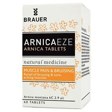 Brauer Arnica Tablets 60 Relief Bruising and Sore, Aching Muscles