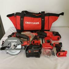 = CRAFTSMAN V20 6 Tool Max Power Tool Combo Kit W/ Batteries Charger CMCK600D2