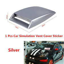Car Decorative Sticker Simulation Air Flow Intake Scoop Bonnet Vent Cover Hood