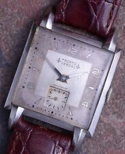 Pronto 40s Vintage Art Deco 39mm Early Formed Steel Case 15j Cal 13746 Serviced