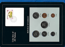 Coin Sets of All Nations Kiribati w/card All 1979 UNC $1,50,20,10,5,2,1 cents
