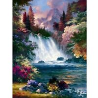 3D Nature Scenery Bead Embroidery Full Diamond Painting Waterfall Forest 5D Cros