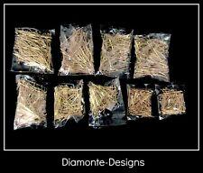900 X tamaño mezclado chapado en oro Cabeza Pins 16 mm a 40 mm resultados Craft Molduras N152