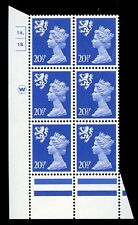 GB QE2 Machin Scotland 20½p ultramarine Waddington 1A1B dot cylinder UMNH **