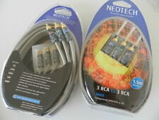 Neotech Component Video Cable 3XRCA-3XRCA 1.5m  24K gold planting, professional