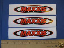 """3.75/"""" Maxxis Tires Mx cycles  MTB BICYCLES BIKE FRAME ride  STICKER DECAL orange"""