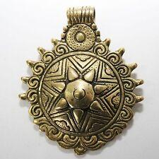 COLGANTE TRIBAL de latón oro Etno Joya India Nepal Goa hippie B