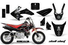 HONDA CRF 50 GRAPHICS KIT CREATORX DECALS STICKERS SKULL CHIEF SILVER R