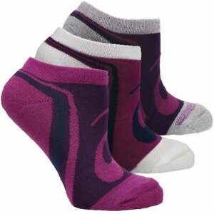 ASICS Abby No Show 3-Pack Socks Womens       - Purple - Size M