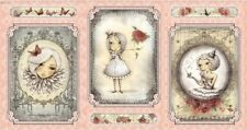 La VIE EN ROSE Pannello in Cameo Santoro Mirabelle tessuto da Quilting Treasures