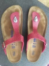Birkenstock Pink Patent Leather Sandals Shoes Women's 40 / 9 N
