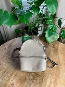 Borse In Pelle Mini Leather Backpack, Made In Italy- Tan Taupe Great Condition!