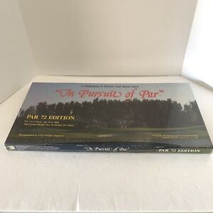 """The Pursuit of Par"", Par 72 Edition, Golf Board Game, 1986 New Sealed"
