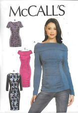 UNCUT McCall's sewing pattern ladies 7467 top tunic dress close fitting pullover