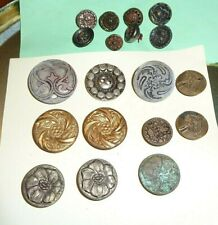 Lot Antique Buttons mixed Lot Victorian Pressed metal all conditions