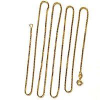 "14k yellow gold fancy box chain 1.25mm necklace 6.8g estate 30"" vintage"