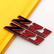 2Pcs Small Metal Red & Black Z71 Off-Road Emblem Car Badge for Silverado Sierra