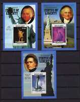 16064) st Vincent 1986 MNH S/Sx3 Statues Of Liberty