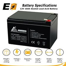 12V 10Ah Rechargeable Battery Replaces NP12-12, PS-12120