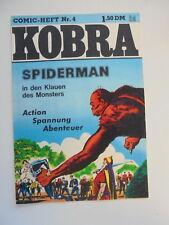 Kobra Comic Heft Nr.4 eingetütet & geboardet Zustand 1-2