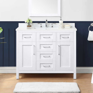 "Bathroom vanity - 42"" Nevada - White - Liquidation"