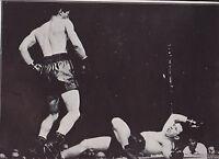 Rocky Graziano Knocks Down Freddie Red Cochrane Dispatch Photo News Service