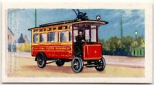 First M.E.T. Trolleybus 1910  London England  Vintage Trade Ad Card
