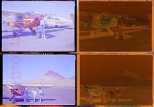 Vintage Photo Negatives Women w/ Piper Airplane 737053