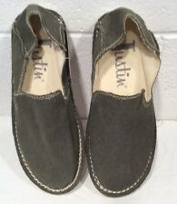New JUSTIN Canvas Shoes Mens Slip On Loafer Olive Green NO BOX 9 M Casual