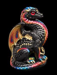 "Windstone Editions ""Black Monarch"" Bantam Dragon Test Paint #1"