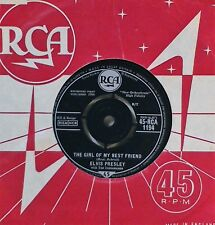 "ELVIS PRESLEY~THE GIRL OF MY BEST FRIEND / A MESS OF BLUES~RCA 1194~UK 7"" SINGLE"