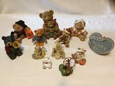 "Lot / 12 Piece Adorable Teddy Bear Figurines ~3""-6� In. assorted Collectible"