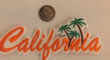 """Embroidered Iron On Patch - """"California""""  5 1/2""""x 2"""" ORANGE / Awesome!!"""