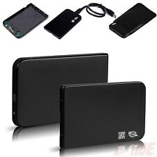 "Aluminium 2.5"" USB 3.0 SATA HDD Hard Drive Disk External Case Enclosure Black"