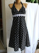 Esprit Kleid schwarz weiß punkte dots gr 40 top rockabilly
