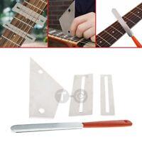 Fret Crowning File Protector Shim Leveling Tool Kit Set For Guitar Bass Ukulele
