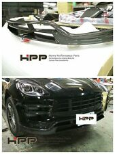 For Porsche Macan Turbo Carbon Fiber Front Spoiler Lip Splitter CF