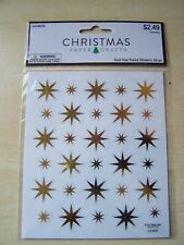NEW - HOBBY LOBBY - PAPER CRAFTS - CHRISTMAS - GOLD FOILED STAR STICKERS