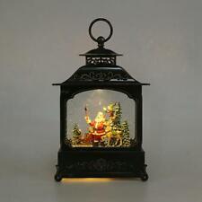LED Traditionell Krippenspiel Wasser Glitzer Schneekugel Laterne Heim Dekoration