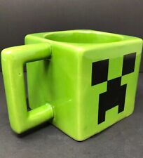 Minecraft Creeper Face Video Game Ceramic Coffee Mug Cup Mojang Jinx Green