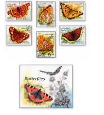 KASAFG98111 Butterflies 6 pcs. and block CANCELED AFGANISTAN 1998