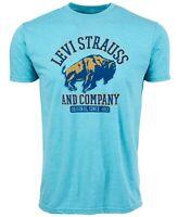 Levi's Mens T-Shirt Blue XL Classic Fit Logo Print Graphic Tee $24- #138