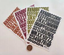 NO 238 Scrapbooking - 200+ Small Alphabet / Letters Stickers - Scrapbook