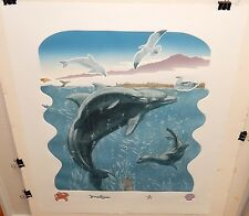 "CHARLES LYNN BRAGG ""DOLPHINS AND FRIENDS"" LIMITED EDITION SIGNED ETCHING C.O.A."