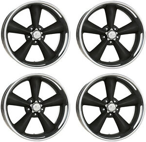 NEW BILLET SPECIALTIES MAG WHEEL SET,LEGENDS SERIES,BLACK,GM,STAGGERED,17X7,17X8