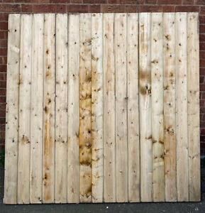 Treated Fence Panels Tongue and Grooved Shiplap Overlap vertilap Feather edge