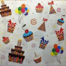 4 x Single Paper Napkins Balloons Party Present  Decoupage and Crafting 116
