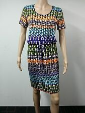 Calvin Klein Short Sleeve Dress Size 8 Printed Multicolored 89