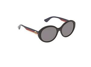 Gucci Grey Oval Ladies Sunglasses GG0279SA 001 57