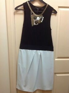 BCBG Max Azria Dress Black/White With Detachable Accessory U.S Size S *New*